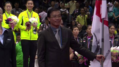 SUDIRMAN CUP HANDOVER CEREMONY at Dongguan 2015
