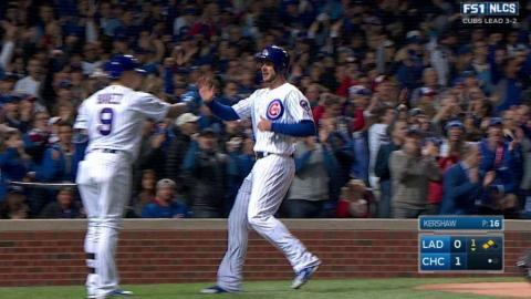 NLCS Gm6: Zobrist lifts a sac fly to center field