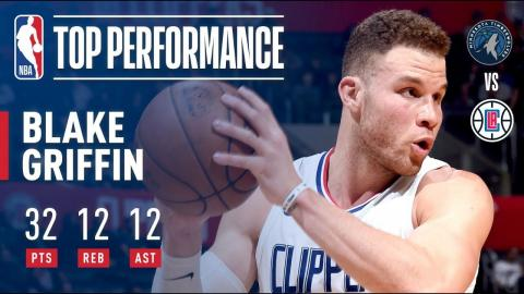Blake Griffin Gets a Triple-Double (32/12/12) vs. T-Wolves | January 22, 2018