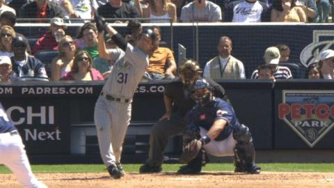 COL@SD: Sullivan hits two triples in the 5th inning