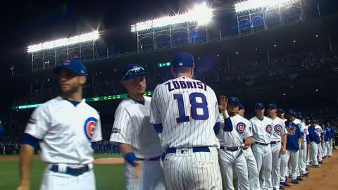 NLCS Gm1: Maddon, Cubs starters introduced