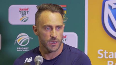 Faf surprised by brown pitch
