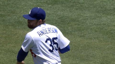 MIL@LAD: Anderson holds Brewers to three runs