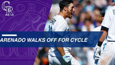 Arenado completes the cycle with a walk-off home run