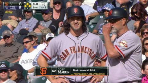 SF@COL: Gearrin records his first career hit
