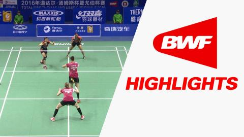 TOTAL BWF Thomas & Uber Cup Finals 2016 | Badminton-Day 3/S1-Uber Cup Grp A DEN vs MAL – Highlights