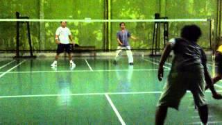 Reaction And Funny Smash Badminton