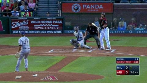 MIL@ARI: Goldy sets franchise record with early walk