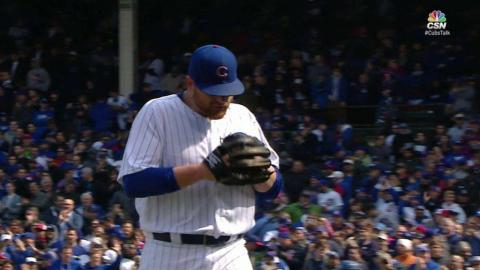 LAD@CHC: Anderson escapes bases-loaded jam in the 5th