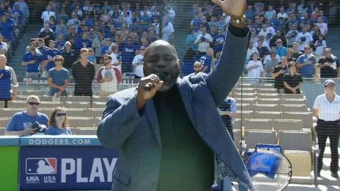 WSH@LAD Gm4: Gospel singer Williams Jr. sings anthem