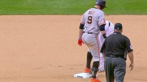 SF@COL: Giants tie franchise record with eight double