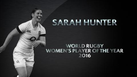 Sarah Hunter wins Women's Player of the Year | World Rugby Awards 2016