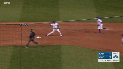 LAD@CHC: Grimm escapes bases-loaded jam with DP