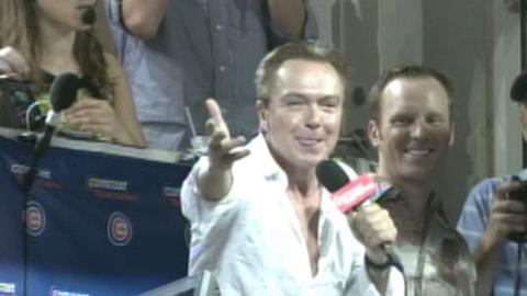 David Cassidy sings 'Take Me Out to the Ballgame' in 2006
