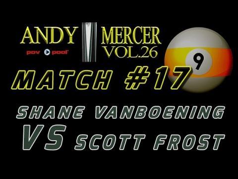 #17 • 2016 Mercer 9-Ball • Shane VanBoening vs Scott Frost