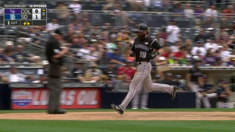 COL@SD: Arenado lifts a sac fly to left