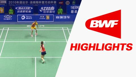TOTAL BWF Thomas & Uber Cup Finals 2016 | Badminton-Day 4/S2- Uber Cup Grp D JAP vs IND – Highlights