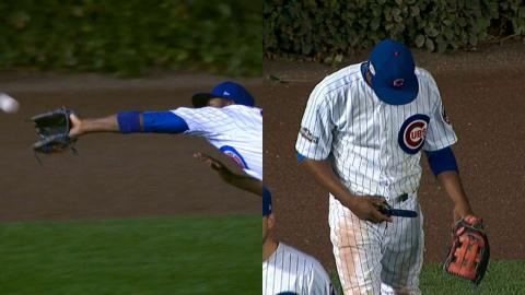 NLCS Gm1: Fowler makes two excellent diving grabs