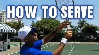Tennis Lessons - How To Serve In Tennis By Tom Avery