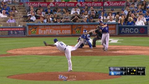 COL@LAD: Nicasio fans LeMahieu to end the frame
