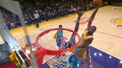 Lakers Dunk Show: Tarik Black, Brandon Ingram Back-to-Back Throwdowns | 02.28.17
