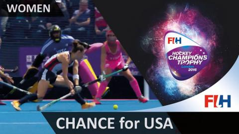USA 1-3 ARG The Americans have the ball in the net but the umpire rules it out #HCT2016
