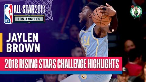 Jaylen Brown SHOWS OUT in 2018 Rising Stars  | Presented by Mtn Dew Kickstart