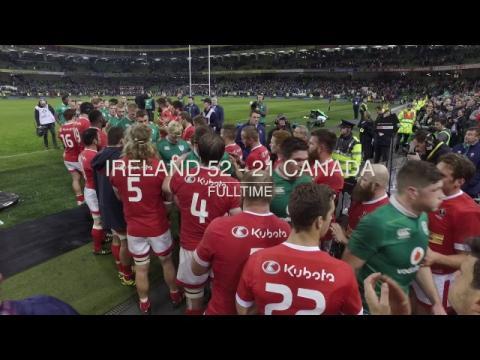 Irish Rugby TV: Ireland v Canada Tunnel Cam