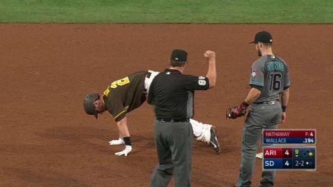 ARI@SD: Hathaway picks off Noonan from first base