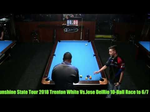 Jose DelRio VS  Trenton White 2018 Sunshine State Tour at Stroker's Billiards, Palm Harbor ,FL