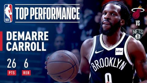DeMarre Carroll Scores Career High 26 Points vs The Heat