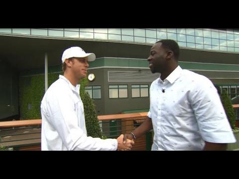 Draymond Green Takes In Sights and Sounds of Wimbledon