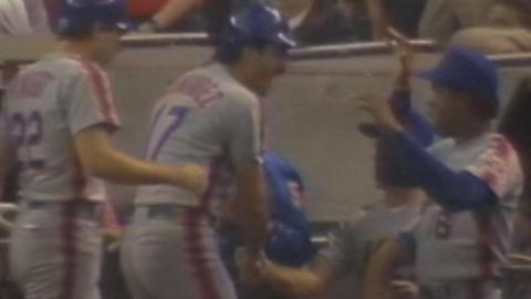 1986 NLCS Gm6: Mets tie game in 9th with three runs