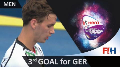 GER 3-3 IND Gomoll fires the stroke into the top corner to equalise for Germany #HCT2016