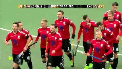 GRU 2-1 LEU On the stroke of half time, Dutkiewicz fires home a PC #EHL