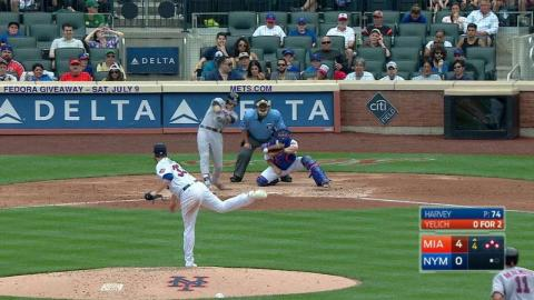 MIA@NYM: Yelich plates two more with a single