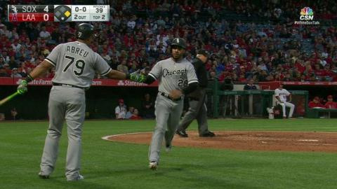 CWS@LAA: L. Garcia trots home on an error by Simmons