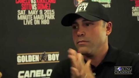 "Oscar de la Hoya: ""Kirkland is a dangerous fighter, you have to beat him at his own game""."