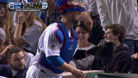NLCS Gm4: Ross forgets the count, runs off field