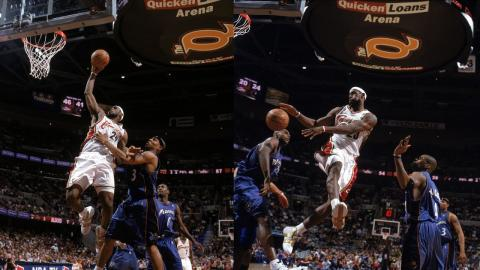 Lebron James Triple Double In His First Playoff Game | April 22, 2006