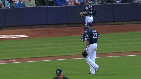 WSH@MIL: Garza strikes out Ramos to escape jam