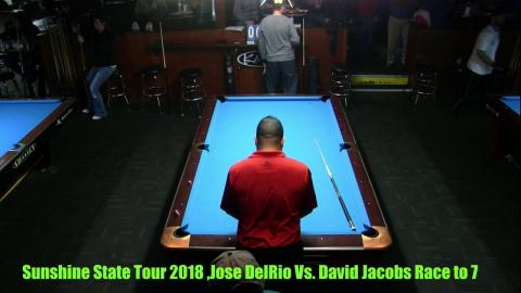 Jose DelRio Vs David Jacobs 2018 Sunshine State Pro Am 9 Ball Race to 5