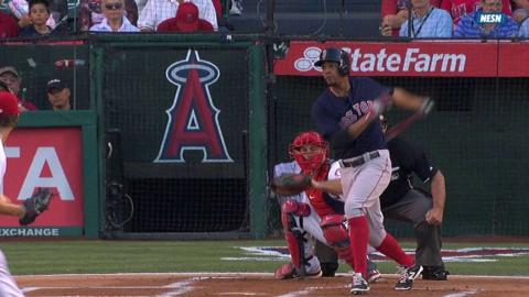 BOS@LAA: Bogaerts extends hitting streak to 11