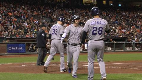 COL@SF: Rockies hang five on the Heston in the 3rd