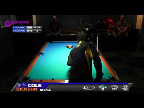 #1 •Edgie GERONIMO vs Frank GIORDANO •2016 Cole Dickson 10 Ball