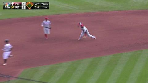 PHI@PIT: O'Sullivan escapes a bases-loaded jam in 4th