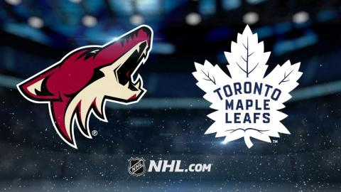 Keller, Raanta lead Coyotes past Leafs, 4-1