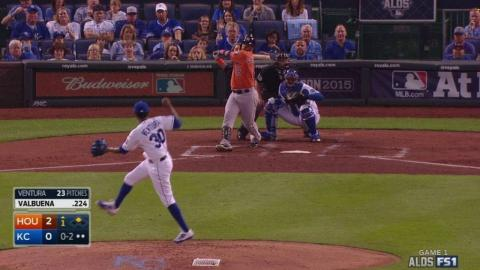 HOU@KC Gm1: Ventura strikes out Valbuena to end 1st