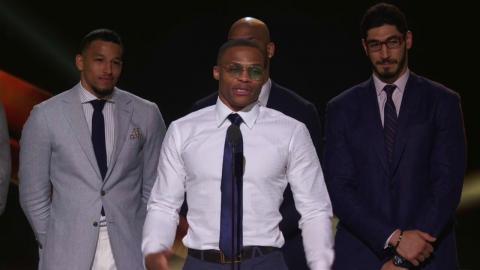 Russell Westbrook Full KIA MVP Presentation & Speech | NBA Awards 2017