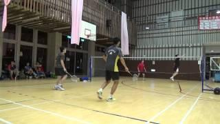 20150503FUMA Badminton Club MD放逐+余大中vs SinDon Kuo+施貴均